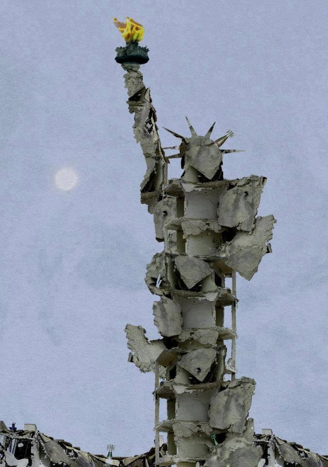 Tammam Azzam artiste syrien. Avec les ruines de sa maison !.jpg